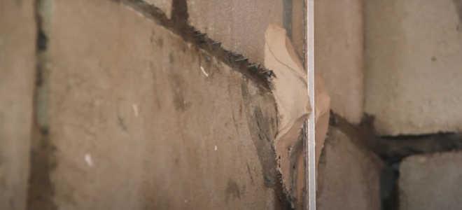 Как установить маяки под штукатурку стен