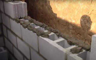 Технологический процесс, как построить стену из шлакоблока